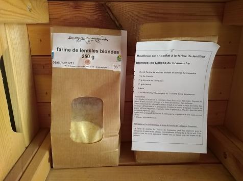 Les Délices du Scamandre - Farine de Lentilles Bio - 5kg