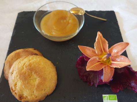 La Ferme du Montet - Compote Pomme - nectarine - bio - sans sucre ajouté