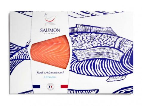 Saumon de France - Saumon De France Fumé - 6 Tranches - 270g