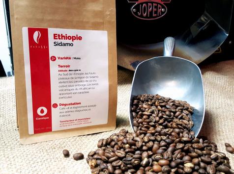 Brûlerie de Melun-Maison Anbassa - Café Sidama-ethiopie - En Grains
