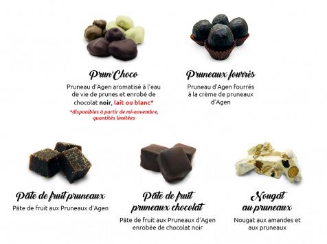 Maison du Pruneau - Assortiment Noël Et Fêtes Pruneaux Et Chocolats - Coffret Élégance 450g