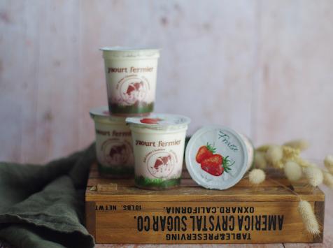 Ferme Chambon - Yaourts au Lait Cru de Vache et aux Fruits (Fraise) x4