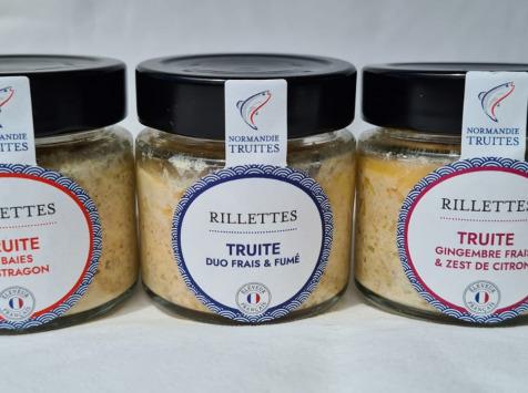 Saumon de France - Lot de 3 rillettes de truite de Normandie