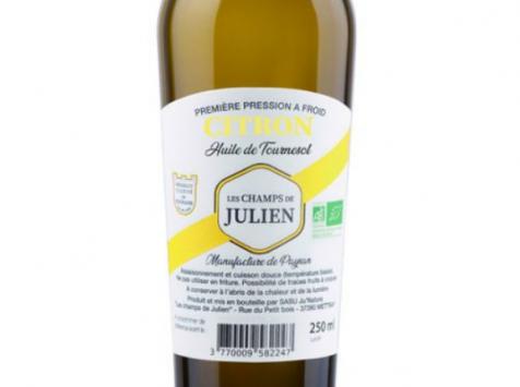 Les Champs de Julien - Huile Aromatisée au Citron