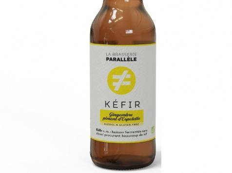 La Brasserie Parallèle - Kéfir de Fruits - Pack ''Kiffeur de Gingembre'' Kéfir de Fruits - 9x33cl