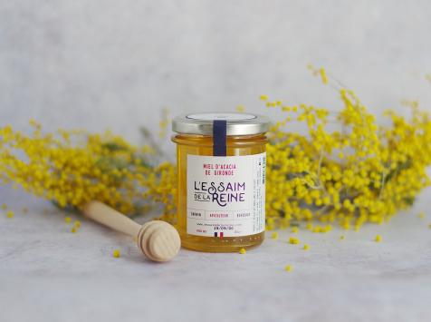 L'Essaim de la Reine - Miel d'acacia de Gironde - 250g - récolté en France par l'apiculteur