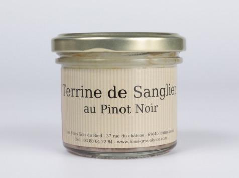 Les foies gras du Ried - Terrine De Sanglier Au Pinot Noir