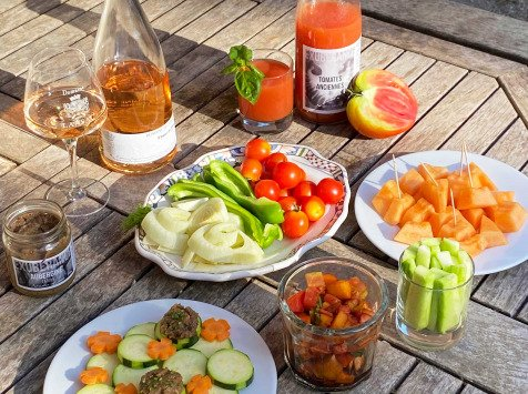 La Boite à Herbes - Panier Apéro : Fruits, Légumes et vin