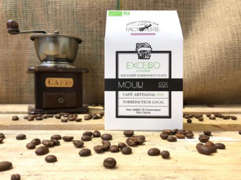 Cafés Factorerie - Café Colombie Excelso Bio MOULU - 250g