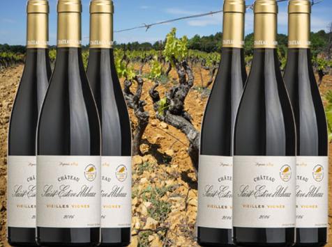 Château Saint Estève d'Uchaux - Vieilles Vignes Rouge 2016 Fûts de chêne AOP Massif d'Uchaux Villages x6