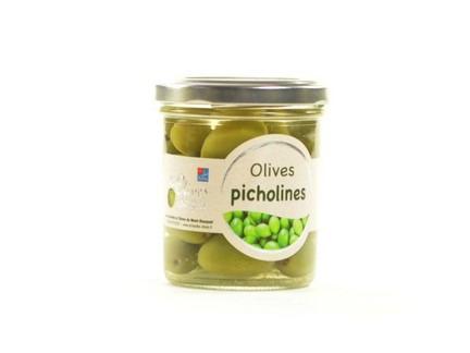 Les amandes et olives du Mont Bouquet - Pot d'olives Picholine nature 100 g
