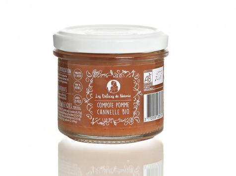 Les délices de Noémie - Lot de 6 Compotes Pomme - Cannelle Bio pour Bébé dès 6 Mois
