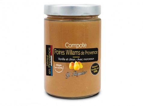 Conserves Guintrand - Compote De Poire Williams Yr 327 Ml Allegee En Sucres