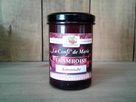 Le Domaine du Framboisier - Confiture allégée en sucre Framboise et Amande 250g
