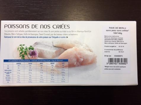 AQUADIS NATURELLEMENT - [surgelé] Pavés De Merlu Sans Peau Et Sans Arêtes 100/140gr
