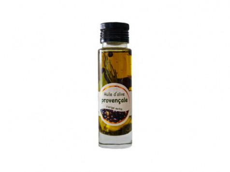 Les amandes et olives du Mont Bouquet - Huile d'olive Picholine à la provençale 10 cl