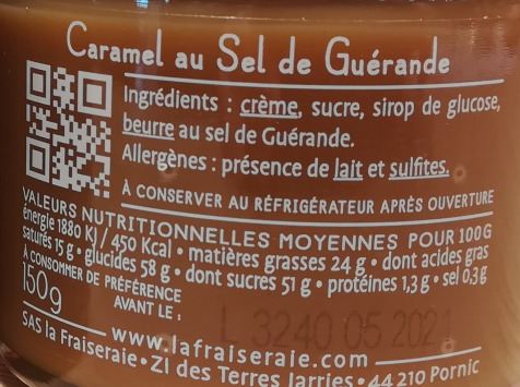 La Fraiseraie - Caramel au Sel de Guérande
