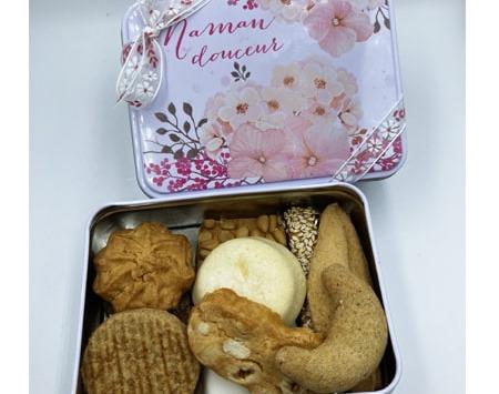 """Philippe Segond MOF Pâtissier-Confiseur - Boite métal """"Maman Douceur """"150g de biscuits"""