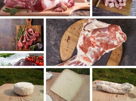 La ferme Lassalle - Offre Pâques : Colis d'Agneau de Lait  + 250g d'Ossau Iraty + fromage lactique
