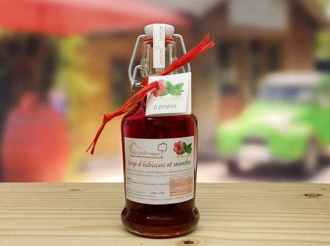 Les Perles Rouges - Sirop De Fleurs D'hibiscus Et De Feuilles De Menthe