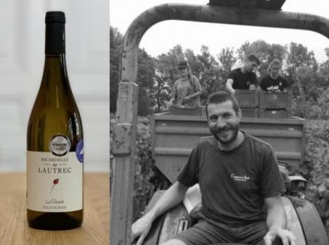Oé - Coffret de 6 Pays d'Oc IGP Bio, Sauvignon, Domaine Riacredelle de Lautrec, millésime 2018