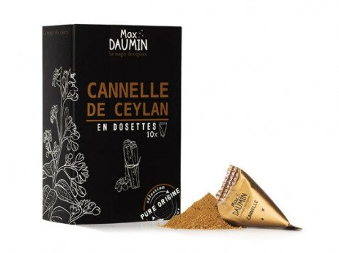 Epices Max Daumin - Cannelle De Ceylan - Boite De Dix Dosettes
