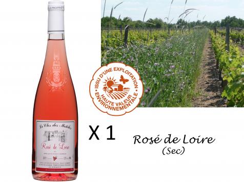 Le Clos des Motèles - Aoc Rosé De Loire 2020. 1 Bouteille