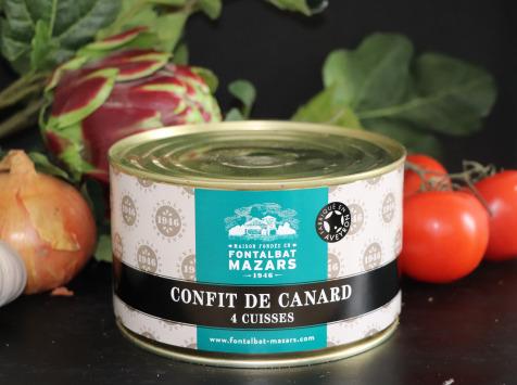 Fontalbat Mazars - Confit de canard boite 4 cuisses