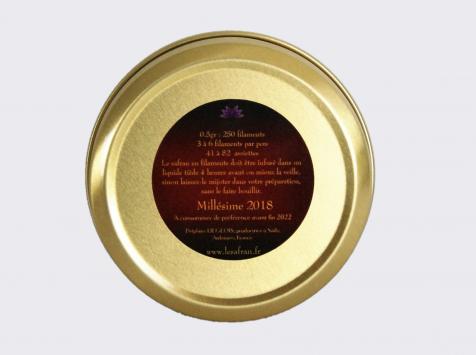 Le safran - l'or rouge des Ardennes - Safran En Filaments, 0.50gr