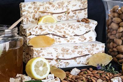 Nougats Laurmar - Nougat blanc tendre  aux écorces de citrons confites