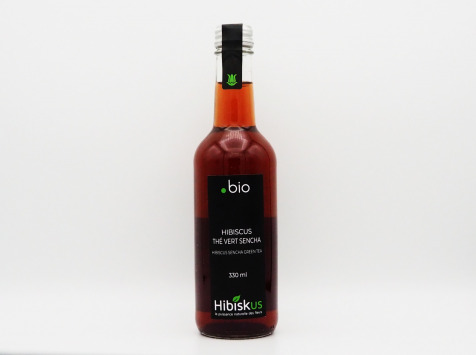Hibiskus  Gourmet - Infusion Hibiscus Thé Vert Sencha Bio - 6x33cl