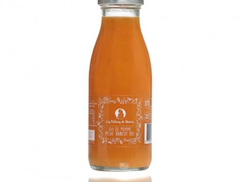 Les délices de Noémie - Lot de 3 Jus de Pomme Pêche Abricot Bio pour Bébé