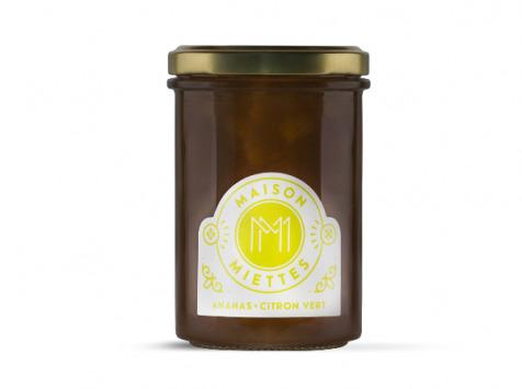 Maison Miettes - Confiture Ananas Citron Vert - 240g