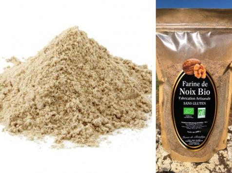 Ferme de Pleinefage - Farine de Noix Bio Sans Gluten 500 g