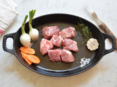BEAUGRAIN, les viandes bien élevées - Sauté de Porc Bio d'Auvergne