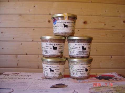 Les Délices du Scamandre - Terrine de Taureau au Piment d'Espelette - 180g