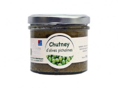 Les amandes et olives du Mont Bouquet - Chutney d'olives Picholine 110g