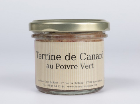 Les foies gras du Ried - Terrine De Canard Au Poivre Vert