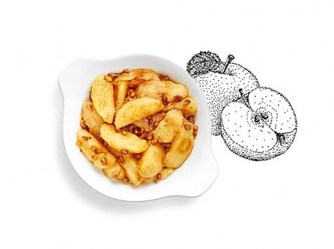 La Brouette - Pour 2 Pers. - Pommes Cuites Aux Noisettes, Sans Sucre Ajouté