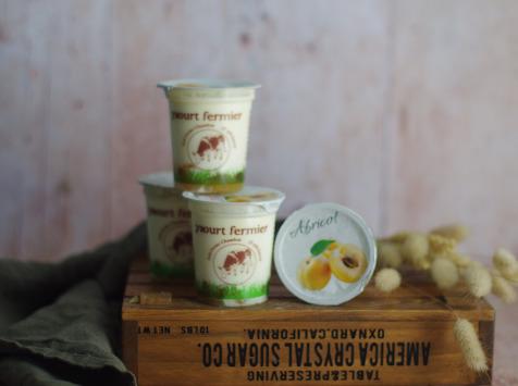 Ferme Chambon - Yaourts au Lait Cru de Vache et aux Fruits (Abricots) x4