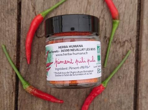 HERBA HUMANA - Piment Pili-pili Bio Cultivé en France 12 g