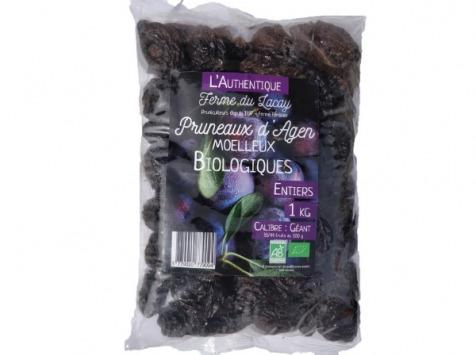 Ferme du Lacay - Pack 4 * Pruneaux D'agen Moelleux Bio - 1kg