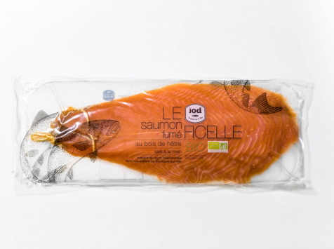 ÏOD - Filet entier de saumon fumé à la ficelle tranché BIO