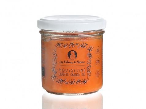 Les délices de Noémie - Petits Pots Bébé 6 Mois: Lot de 3 Mousseline Carotte Orange Bio