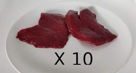 La Ferme Enchantée - [SURGELÉ] Lot de 10 steaks d'autruche conditionné par 2