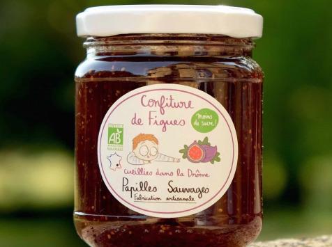 Papilles Sauvages - Confiture de Figues de la Drôme - Bio