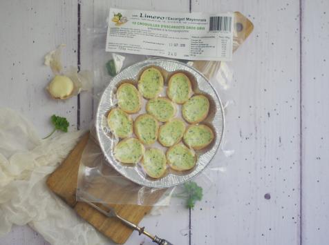 Limero l'Escargot Mayennais - Assiette De 12 Croquilles D'escargots Gros Gris FRAIS À La Bourguignonne -Lot De 10