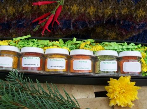 HERBA HUMANA - Coffret Paprika 6 Flacons Cultivé en France
