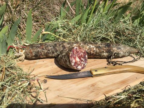 Depuis des Lustres - Comptoir Corse - Saucisson Porc Nustrale Entier - 450 g