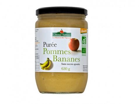 Les Côteaux Nantais - Purée Pommes Bananes 630g Bio Demeter